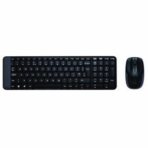 Logitech MK220 Wireless Keyboard and Mouse Combo (Black)