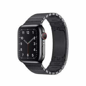 Apple Watch Strap 38mm Space Black Link Bracelet - One Size (fits 135–195mm wrists.)