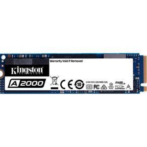 Kingston A2000 M.2 2280 250GB NVMe PCIe Gen 3.0 x4 3D NAND Internal Solid State Drive (SSD) SA2000M8/250G
