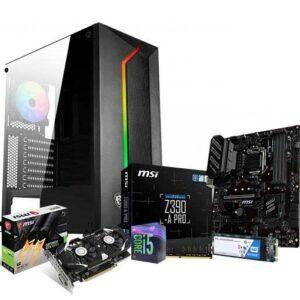 Buy Gaming Desktop PC - Intel Core i5-9400F 2.9 GHz (4.1 GHz Turbo), GeForce GTX 1050 Ti 4GB DDR5, 16GB DDR4-2666 UDIMM(PC4 21300), 500GB M.2 SSD at best price in Qatar.