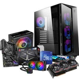 Buy Gaming Desktop PC - Intel Core i7-10700 8-Core 2.9 GHz, Radeon RX 5600 XT GDDR6 6GB, 240mm Liquid Cooled, 16GB(2 x 8GB) RGB DDR4-3200Mhz, 1TB M.2 2280 Nvme SSD, WiFi at best price in Qatar.