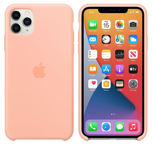 Apple iPhone 11 Pro Max Silicone Case - Grapefruit