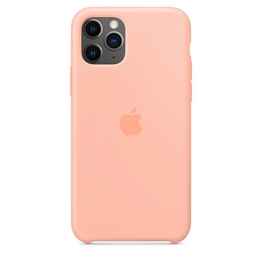 Buy Apple iPhone 11 Pro Silicone Case - Grapefruit in Qatar
