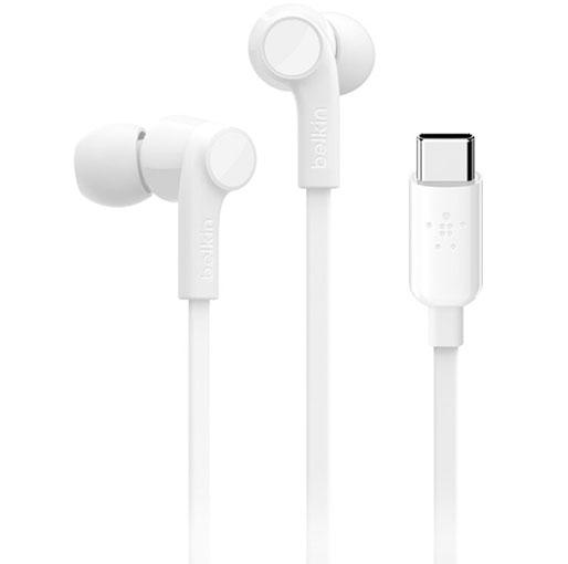 Buy Belkin RockStar In-Ear Headphones with USB Type-C Connector (White) in Qatar