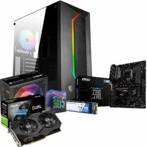 Buy Gaming Desktop PC - Intel Core i5-9400F 2.9 GHz (4.1 GHz Turbo), GeForce GTX 1660 Super GDDR6 6GB VR Ready, RGB 16GB (8GB x 2) DDR4 3600MHz, 500GB M.2 SSD in Qatar