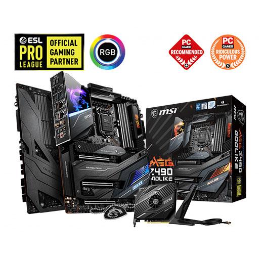 Buy MSI MEG Z490 GODLIKE LGA 1200 Intel Z490 SATA 6Gb/s Extended ATX Intel Motherboard in Qatar