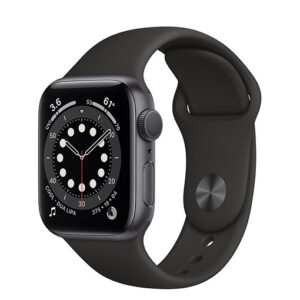 Buy Apple Watch Series 6 GPS,40mm Space Gray Aluminium Case with Black Sport Band - Regular at best price in Qatar.