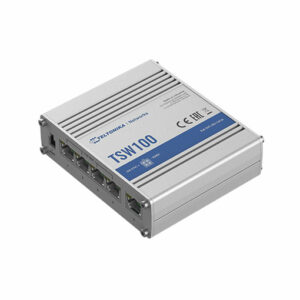 Buy Teltonika TSW100 Industrial Rugged Unmanaged Poe+ Switch at best price in Qatar.