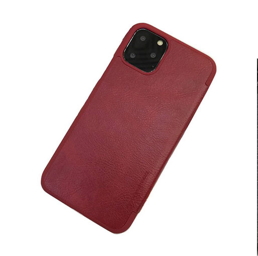 "Buy G-CASE Apple iPhone 12/12 Pro 6.1"" Business Ultra-thin Flip Case with Card Slot - Red in Qatar"