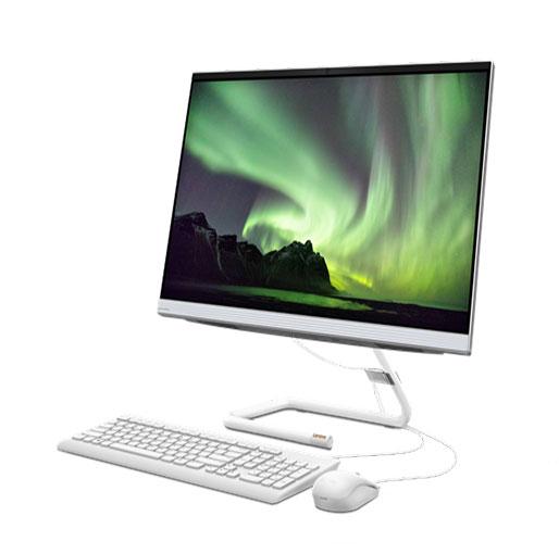 "Buy Lenovo IdeaCentre AIO 3 (27"") 27IMB05 F0EY005PAX AMD All In One Desktop - i7-10700T 4.5GHz 8GB (4GB x 2) 1TBHDD 2GB Graphics Windows 10 Home 64, Arabic English Keyboard - Foggy White in Qatar"