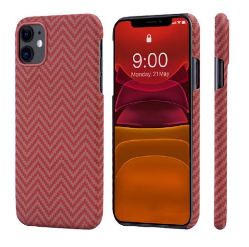 "Buy Pitaka MagEZ Case For iPhone 11 (6.1"") - Red/Orange (Herringbone) in Qatar"