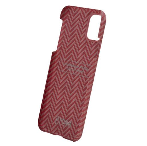 Pitaka-MagEZ-Case-For-iPhone-1111-Pro11-Pro-Max---RedOrange-(Herringbone)