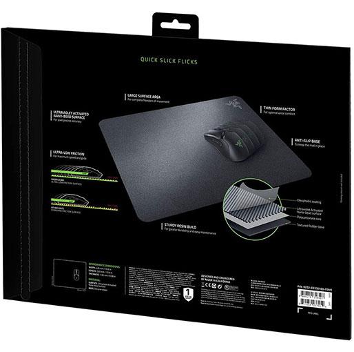 Razer Acari Gaming Mouse mat pad Super Slick Ultra-low friction gaming mat for maximum speed, Black RZ02-03310100-R3M1