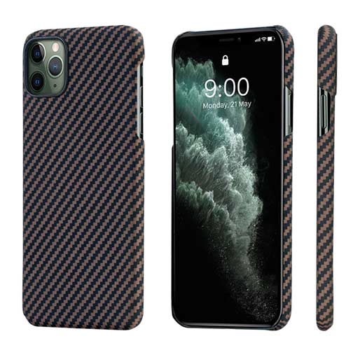Buy Pitaka MagEZ Case For iPhone 11/11 Pro/11 Pro Max - Black/Rose Gold (Twill) at best price in Qatar.
