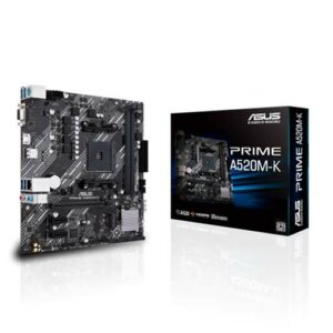 Buy ASUS PRIME A520M-K AMD A520 (Ryzen AM4) micro ATX motherboard with M.2 support, 1 Gb Ethernet, HDMI/D-Sub, SATA 6 Gbps, USB 3.2 Gen 1 Type-A at best price in Qatar.