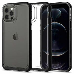 "Buy Spigen iPhone 12/12 Pro 5.4"" Neo Hybrid Crystal Clear Case at best price in Qatar."