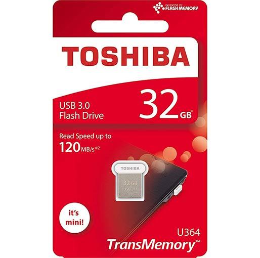 Buy Toshiba U364 32GB USB3.0 Mini Pen Drive Flash Drive THN-U364W0640A4 at best price in Qatar