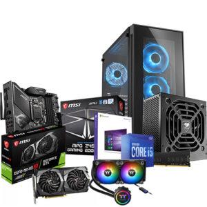 Buy Mid Tower Gaming Desktop PC – Intel Core i5-10400 2.9 GHz, Z490, 16GB, 500GB NVMe M.2 SSD, GeForce GTX 16504GB GDDR5, Win 10 Pro in Qatar