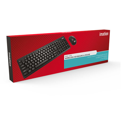 Imation 2.4G Wireless Keyboard and Mouse Combo - WIC 319