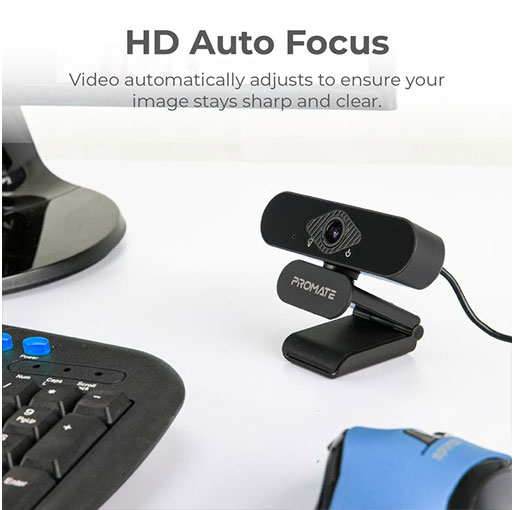 Promate ProCam-2 Auto Focus Full-HD Pro WebCam with Built-In Mic