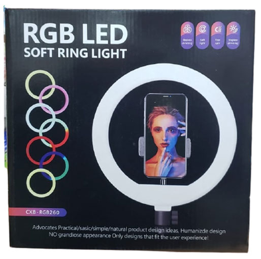RGB LED Soft ring light for live Streaming and Tik Tok videos