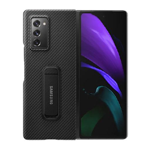Buy Samsung Aramid Standing cover for Galaxy Z fold2 - Black in Qatar