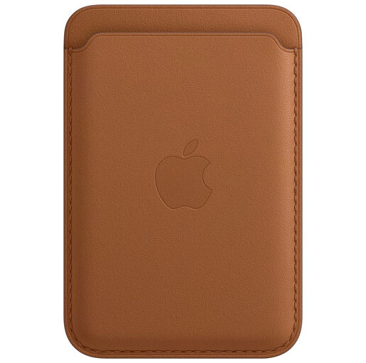Buy Apple iPhone 12 Series Leather Wallet with MagSafe - Saddle Brown at best price in Qatar.
