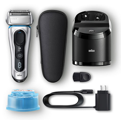Braun Series 8 8370cc Wet & Dry shaver with Clean & Charge system and travel case
