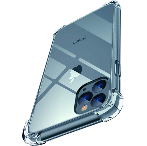 Buy Platina iPhone 12 Mini 5.4 inch anti-impact Transparent Soft Silicon Clear case in Qatar
