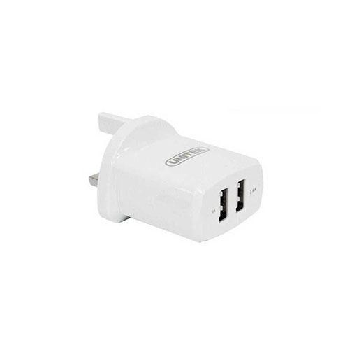 Buy Unitek 17W 2-Port USB Wall Charger (UK Plug) in Qatar