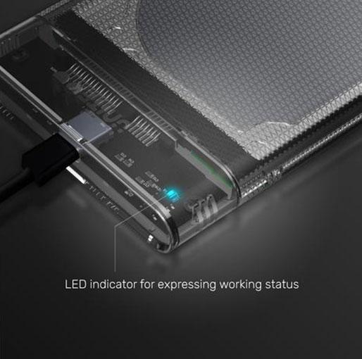 Unitek DiskGuard Limpid R USB-C to SATA6G 2.5 HDDSSD HDD & SSD Enclosure