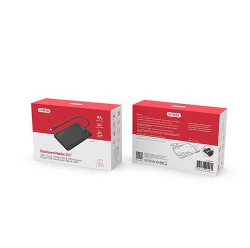 "Unitek DiskGuard Raiden 2.5"" USB-C to SATA III 2.5"" HDD/SSD Hard Disk Enclosure"