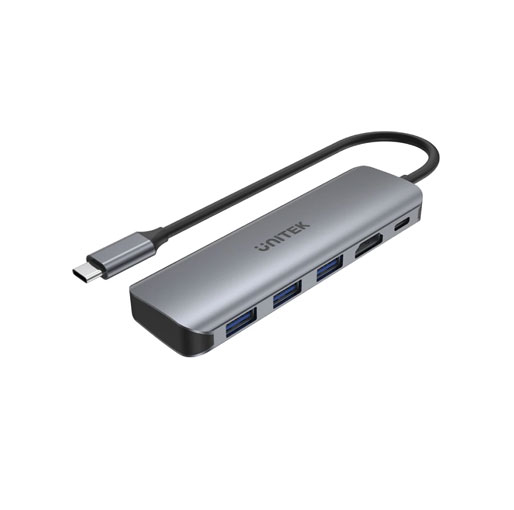 Buy Unitek uHUB P5+ 5-in-1 USB-C Hub with HDMI and 100W Power Delivery in Qatar