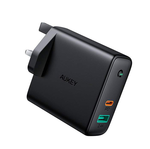 Buy Aukey Focus Duo 60W Dual-Port PD USB C Charger with Dynamic Detect at best price in Qatar.
