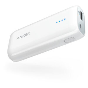 Buy Anker Astro E1 Power Bank 5200mAh White at best price in Qatar.