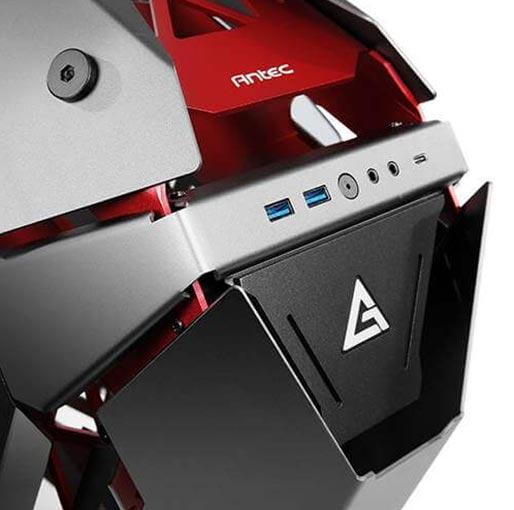 Antec TORQUE Black Red Aluminum ATX Mid Tower Computer Case 9