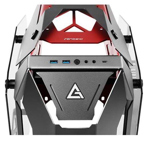 Antec TORQUE Black Red Aluminum ATX Mid Tower Computer Case 8