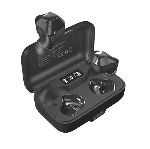 Buy Energizer UB2609 True Wireless Stereo In-Ear Earbuds Bluetooth 5.0, Waterproof With 2600mAh Digital Display Charging Case black in Qatar