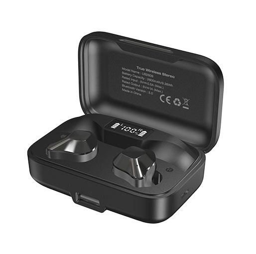 Energizer UB2609 True Wireless Stereo In-Ear Earbuds Bluetooth 5.0, Waterproof With 2600mAh Digital Display Charging Case black