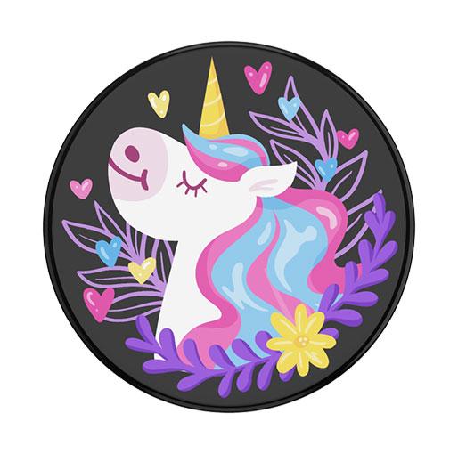 PopSockets Popgrip Unicorn Day Dreams Black