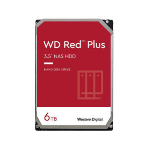 Buy WD Red Plus 6TB NAS Hard Disk Drive - 5400 RPM Class SATA 6Gb/s, CMR, 64MB Cache, 3.5 Inch at best price in Qatar.