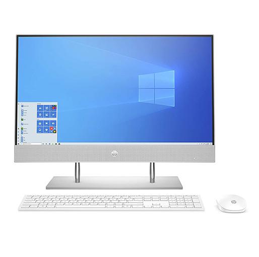 Buy HP 24-DP001 All-in-One Pavilion Desktop(107J9EA#ABV),Core i5-1035G1,8GB,1TB HDD,256GB SSD,NVIDIA 2GB GDDR5, Windows 10,23.8 inch FHD - Silver at best price in Qatar.