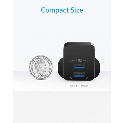 Anker PowerPort mini Dual Port USB Charger – Black