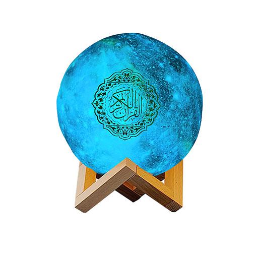 EQUANTU QB512 STAR 3D printing led Moon Lamp App control quran speaker