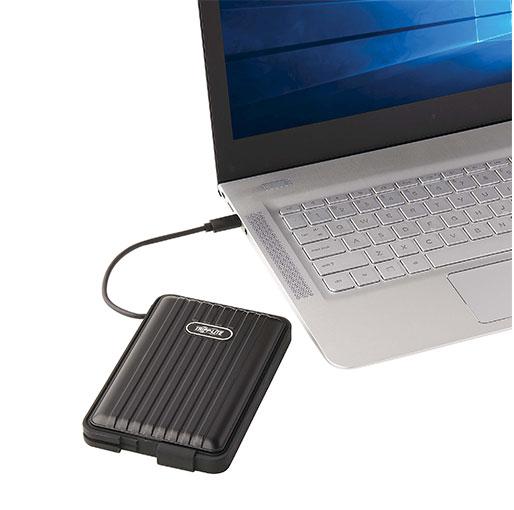 Tripp Lite USB-C to SATA SSD/HDD Enclosure Adapter - USB 3.1 Gen 2 (10 Gbps), Thunderbolt 3, IP66 Rated, UASP