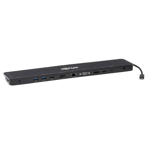Tripp Lite USB-C Dock - 4K HDMI, VGA, USB 3.2 Gen 1, USB-A/C Hub, GbE, Memory Card, 100W PD Charging