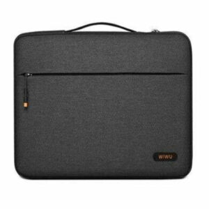 Buy Wiwu Pilot Water Resistant High-Capacity Laptop Sleeve Case 15.6inch Black at best price in Qatar.