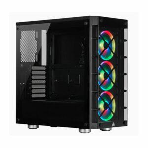 Buy Corsair iCUE 465X RGB Mid-Tower ATX Smart Case — Black at best price in Qatar.