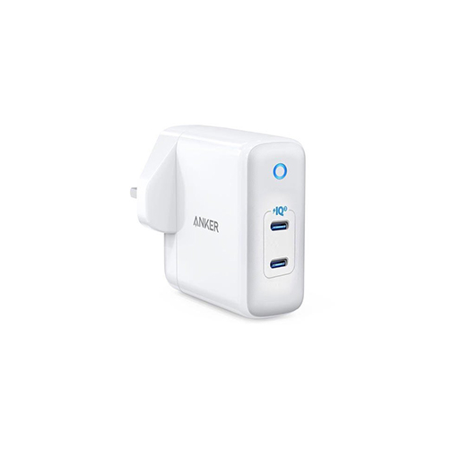 Buy Anker PowerPort III Duo 2-Ports USB-C Power Adapter – White at best price in Qatar.