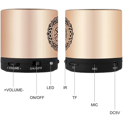 Remote Control Speaker Portable Quran Speaker MP3 Player 8GB TF FM Quran Quran Translator USB Rechargeable Speaker